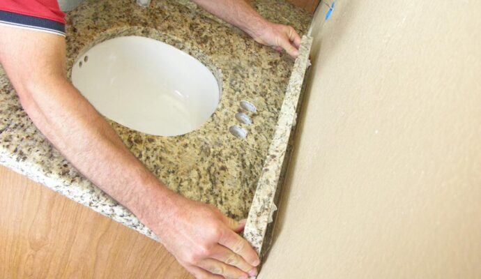 Bathroom Countertop Replacement & Installation-Wellington Kitchen & Bath Home Remodeling Solutions-We do kitchen & bath remodeling, home renovations, custom lighting, custom cabinet installation, cabinet refacing and refinishing, outdoor kitchens, commercial kitchen, countertops, and more