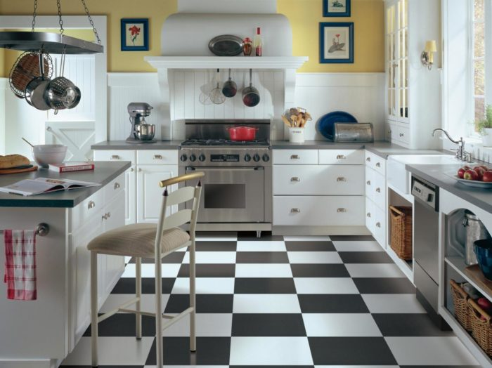 Kitchen Flooring-Wellington Kitchen & Bath Home Remodeling Solutions-We do kitchen & bath remodeling, home renovations, custom lighting, custom cabinet installation, cabinet refacing and refinishing, outdoor kitchens, commercial kitchen, countertops, and more