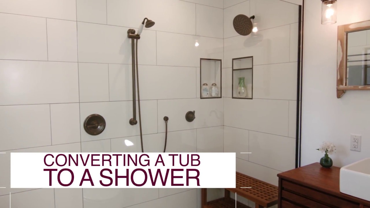 Tub to Shower Conversion-Wellington Kitchen & Bath Home Remodeling Solutions-We do kitchen & bath remodeling, home renovations, custom lighting, custom cabinet installation, cabinet refacing and refinishing, outdoor kitchens, commercial kitchen, countertops, and more